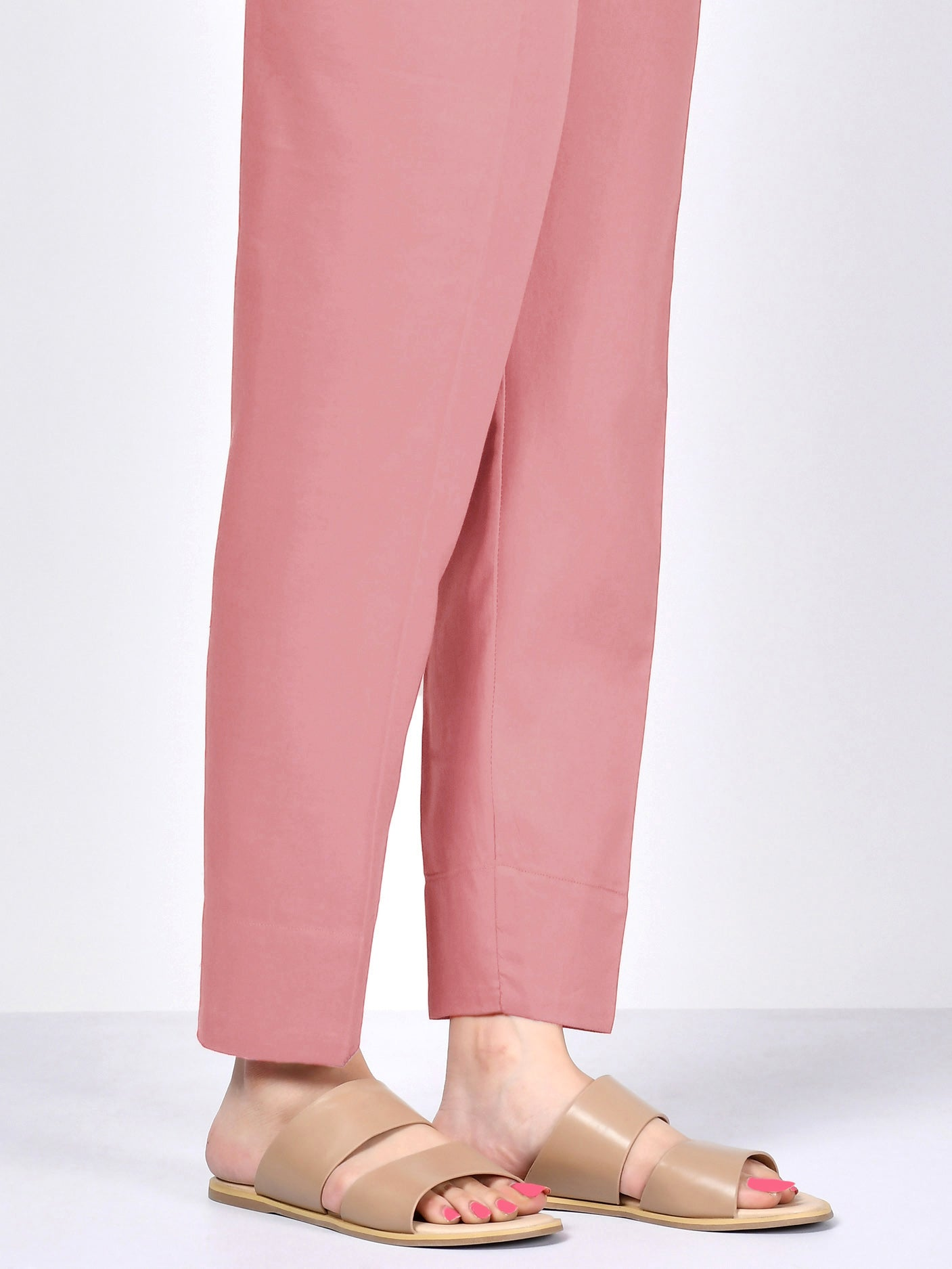 Winter Cotton Trouser - Baby Pink