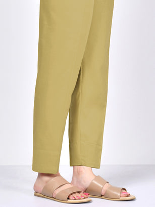 Straight Trouser-Yellow
