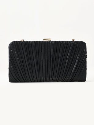 Shimmer Pleated Clutch