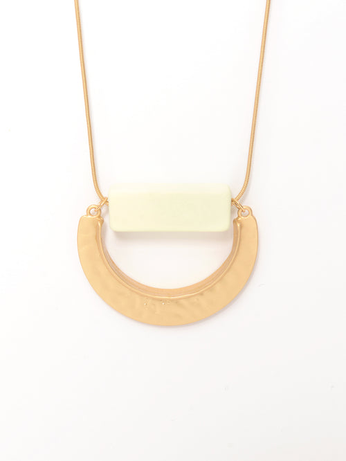 Semi Circle Pendant Necklace