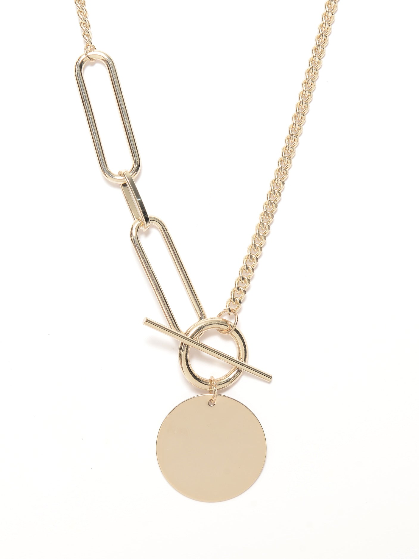 Chained Disc Necklace