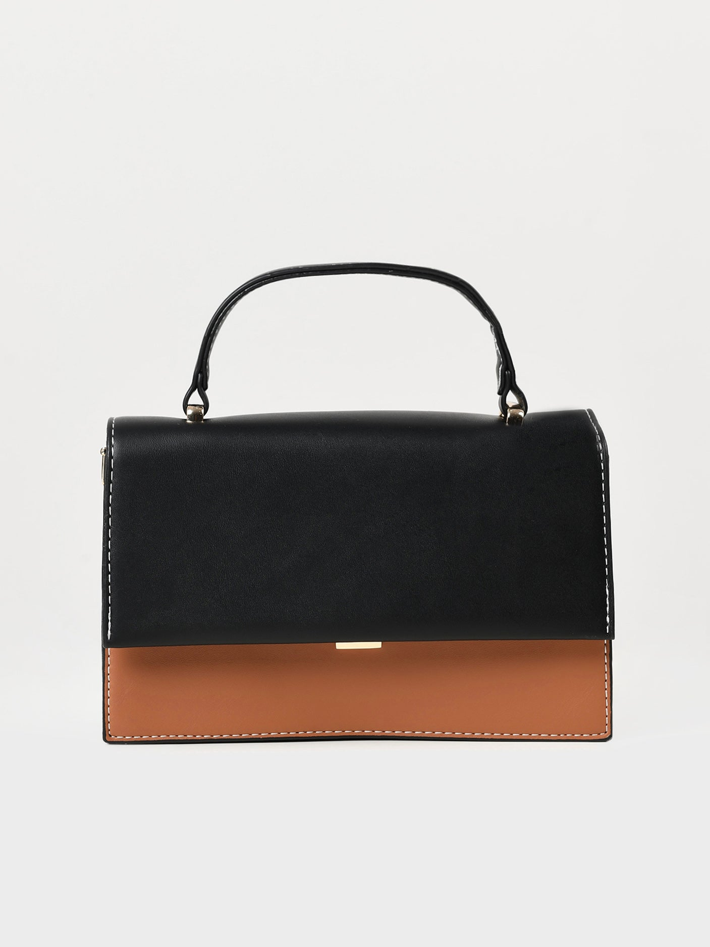 Rectangular Two Toned Handbag