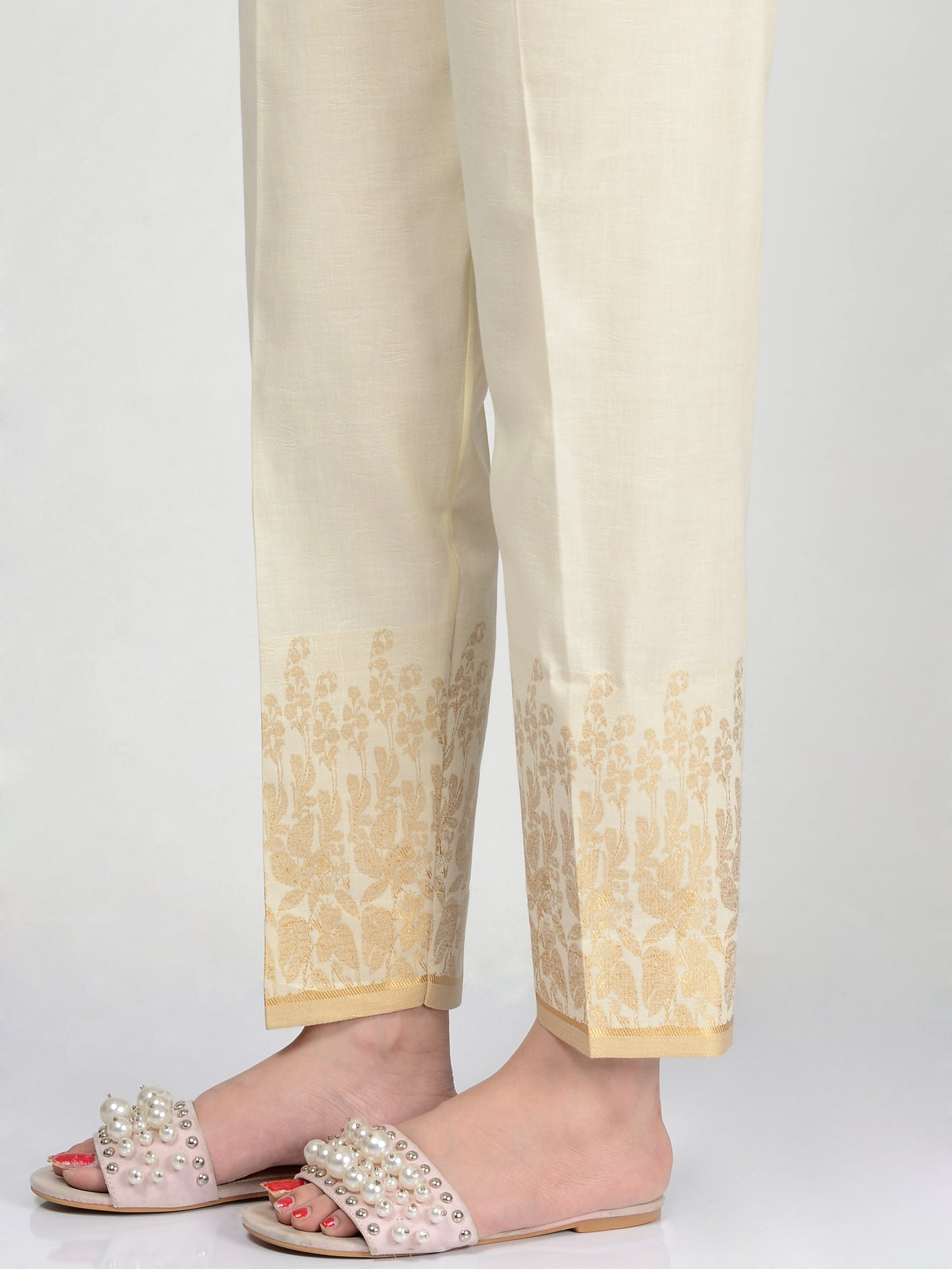 Jacquard Straight Trouser