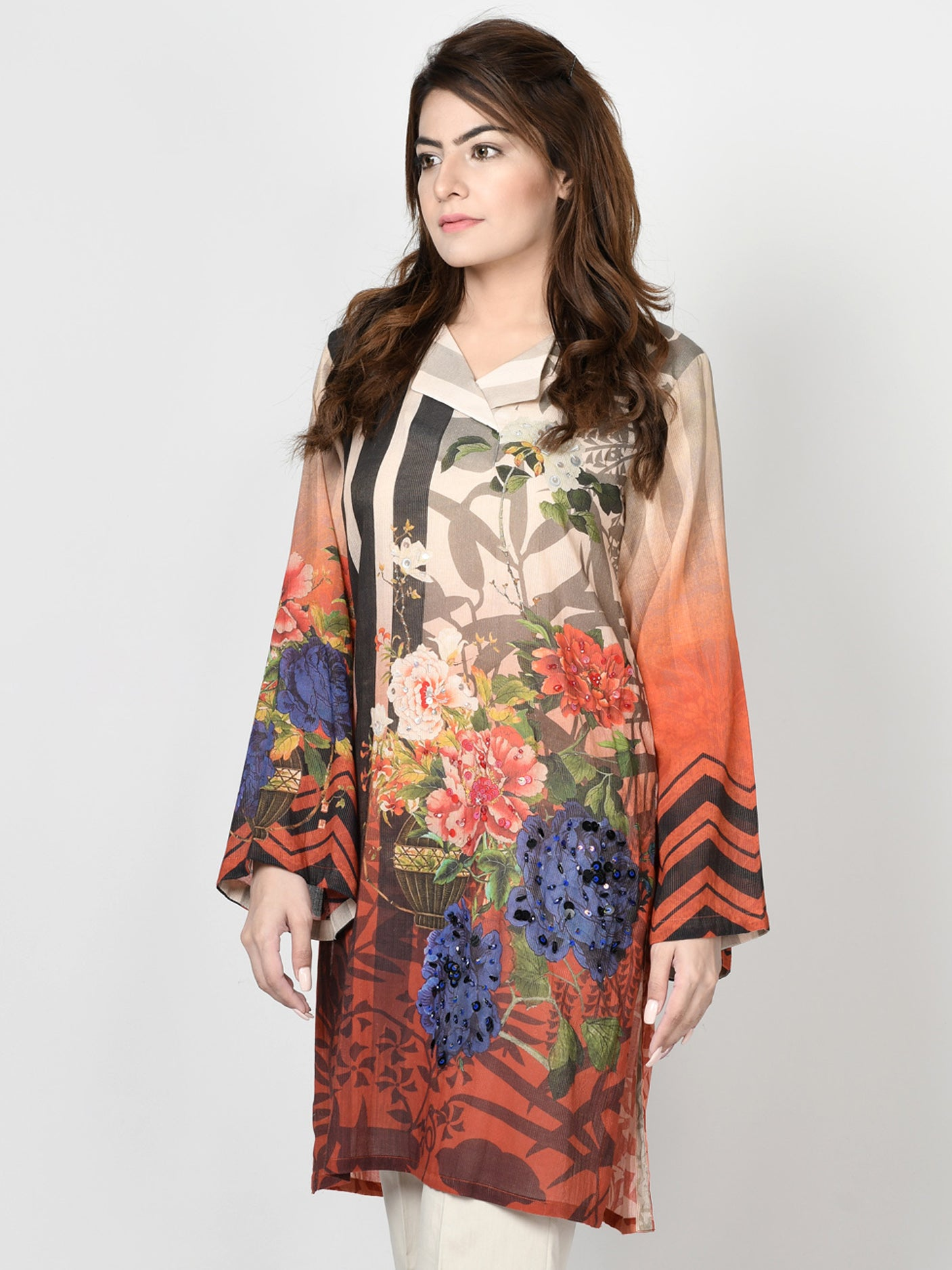 Limelight Online Embroidered Lawn Suit P2709-SLL-BLU