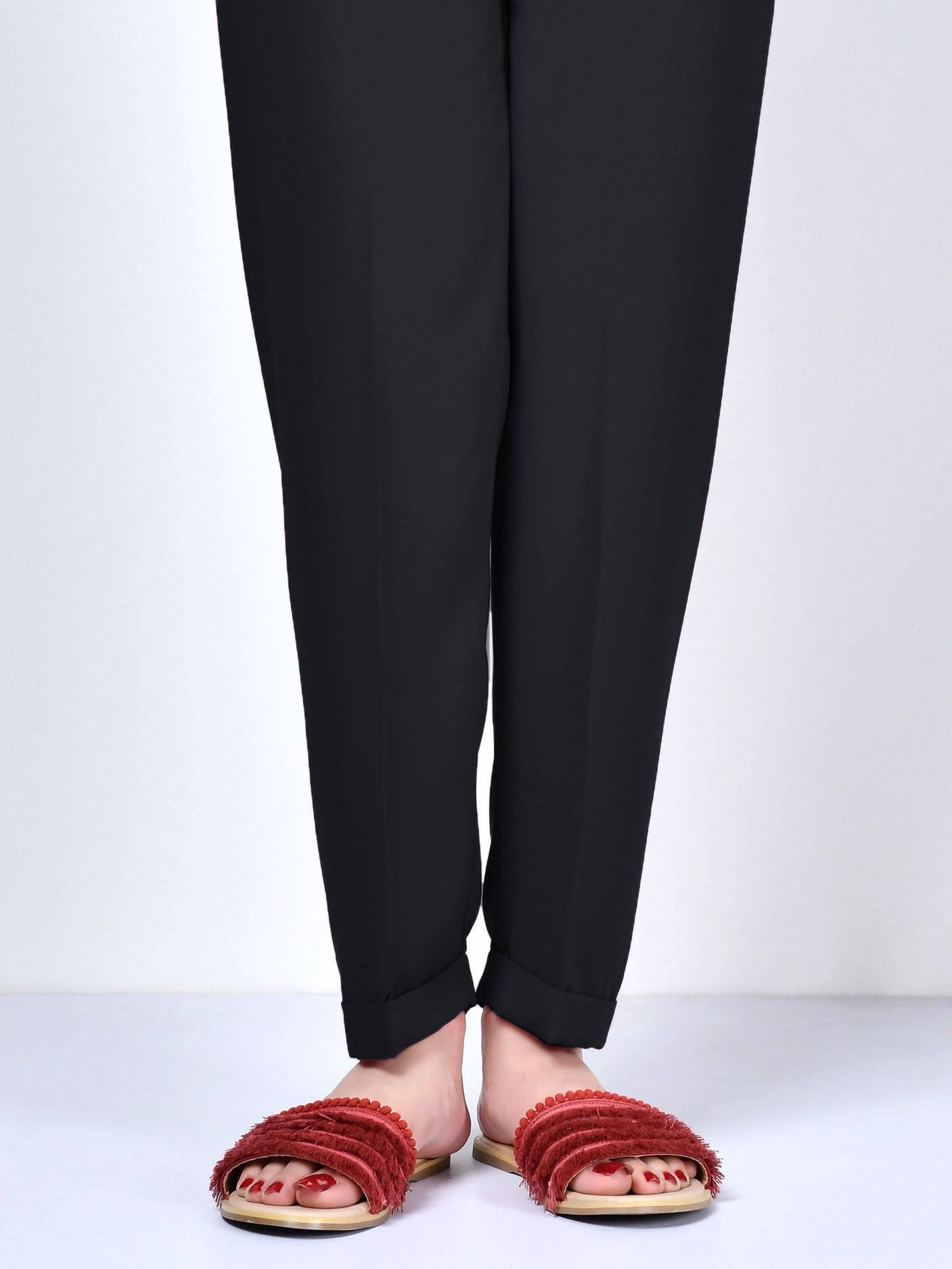 Straight Trouser-Black