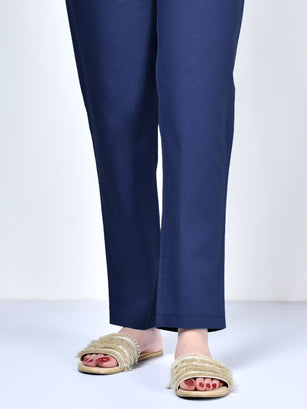 Pocketed Trouser-Dark Blue