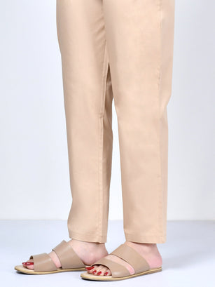 Pocketed Trouser-Dark Beige