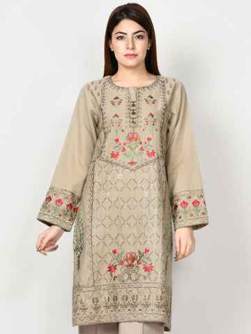 Embroidered Khaddar Shirt