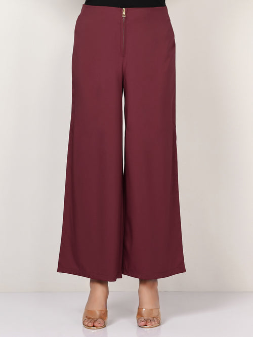 Wide Grip Pants - Dark Maroon
