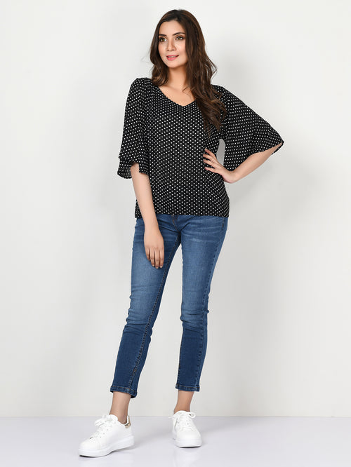 Polka Dot Grip Top