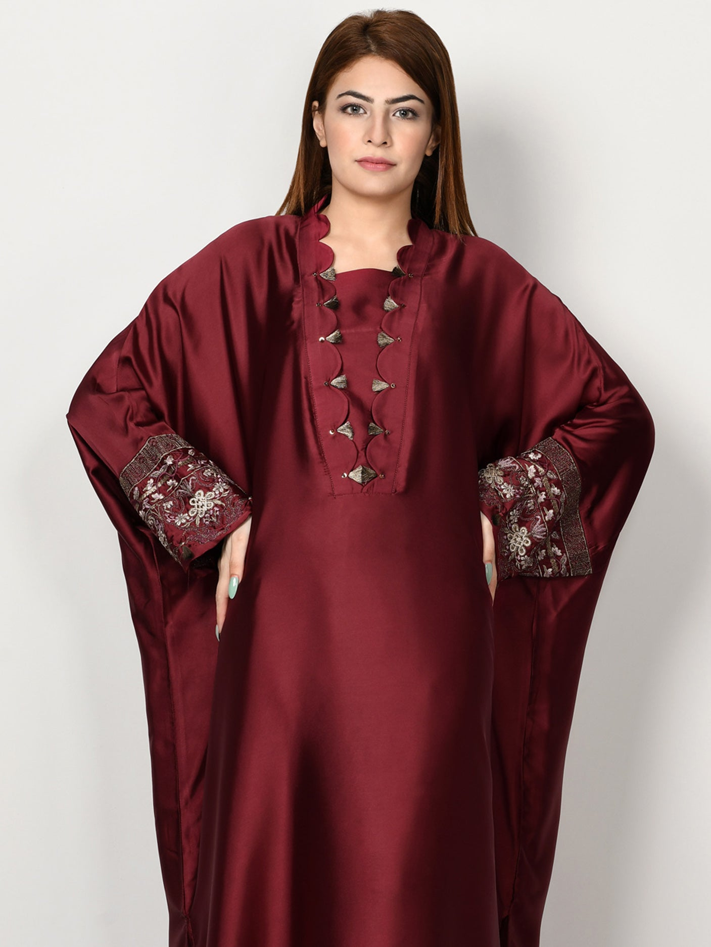 Embroidered Silk Suit