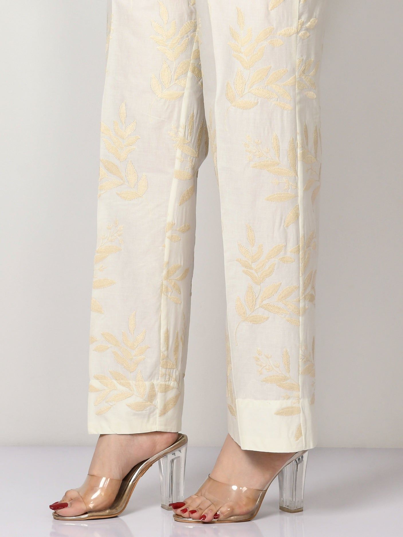 Embroidered Cambric Pants