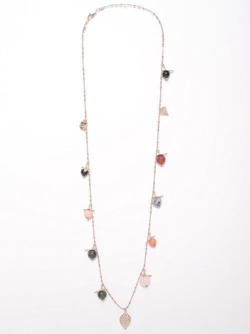 Patterned Beads Necklace
