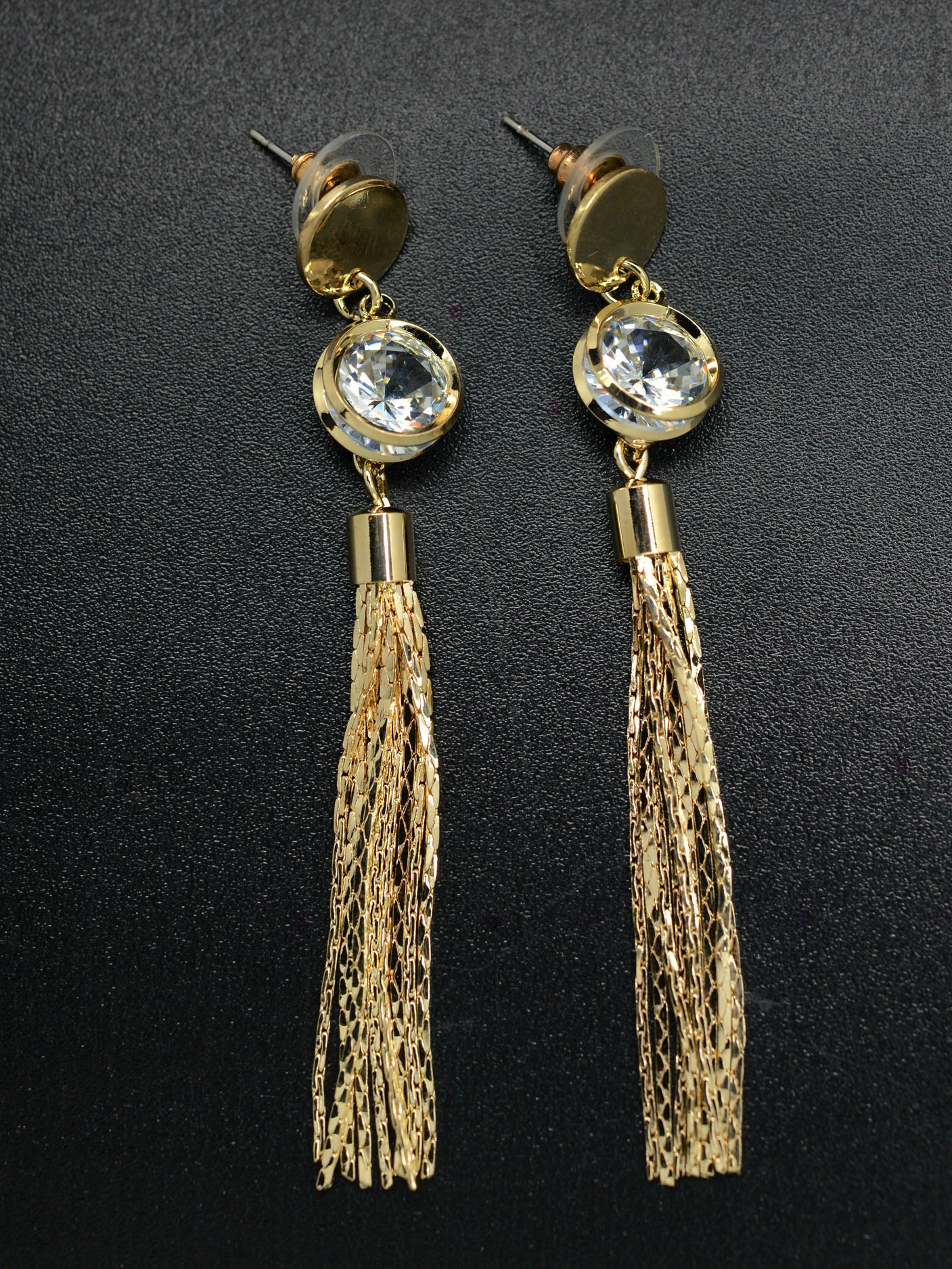 Diamante Tassel Earrings