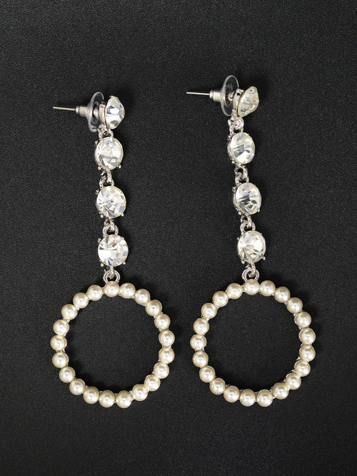 Hanging Pearl Hoops