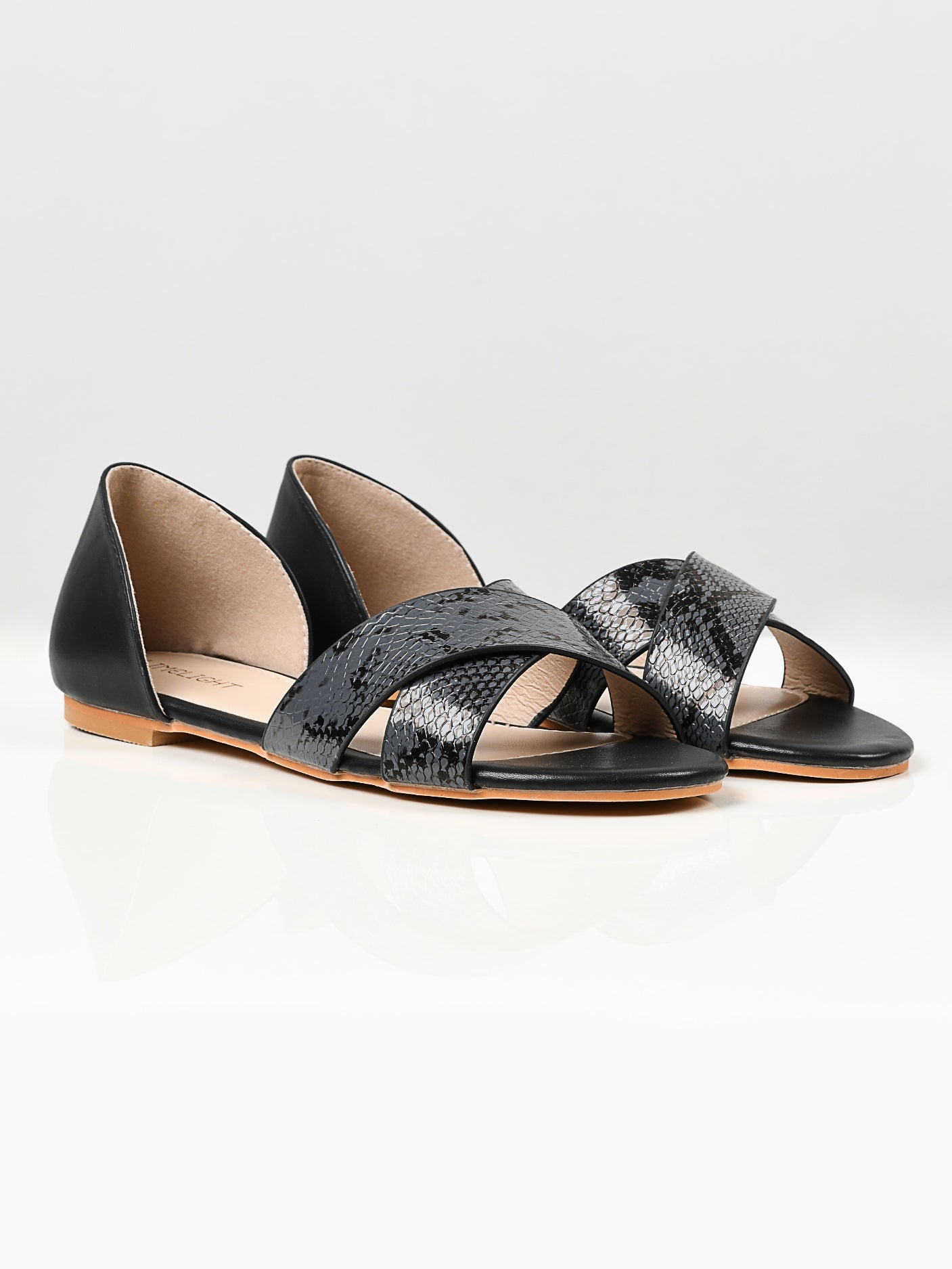 Crisscross Sandals - Black