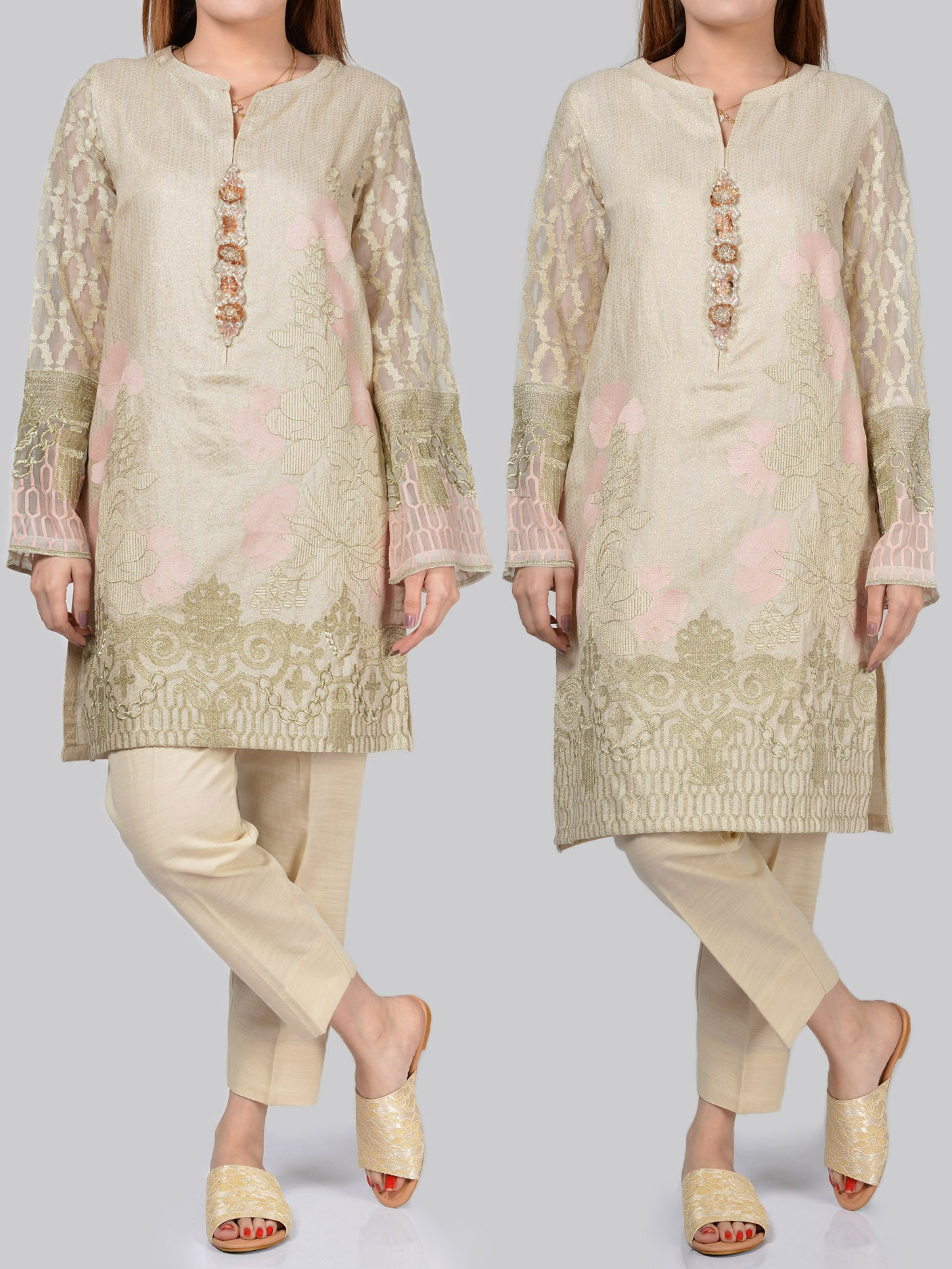 Embroidered Jacquard Suit