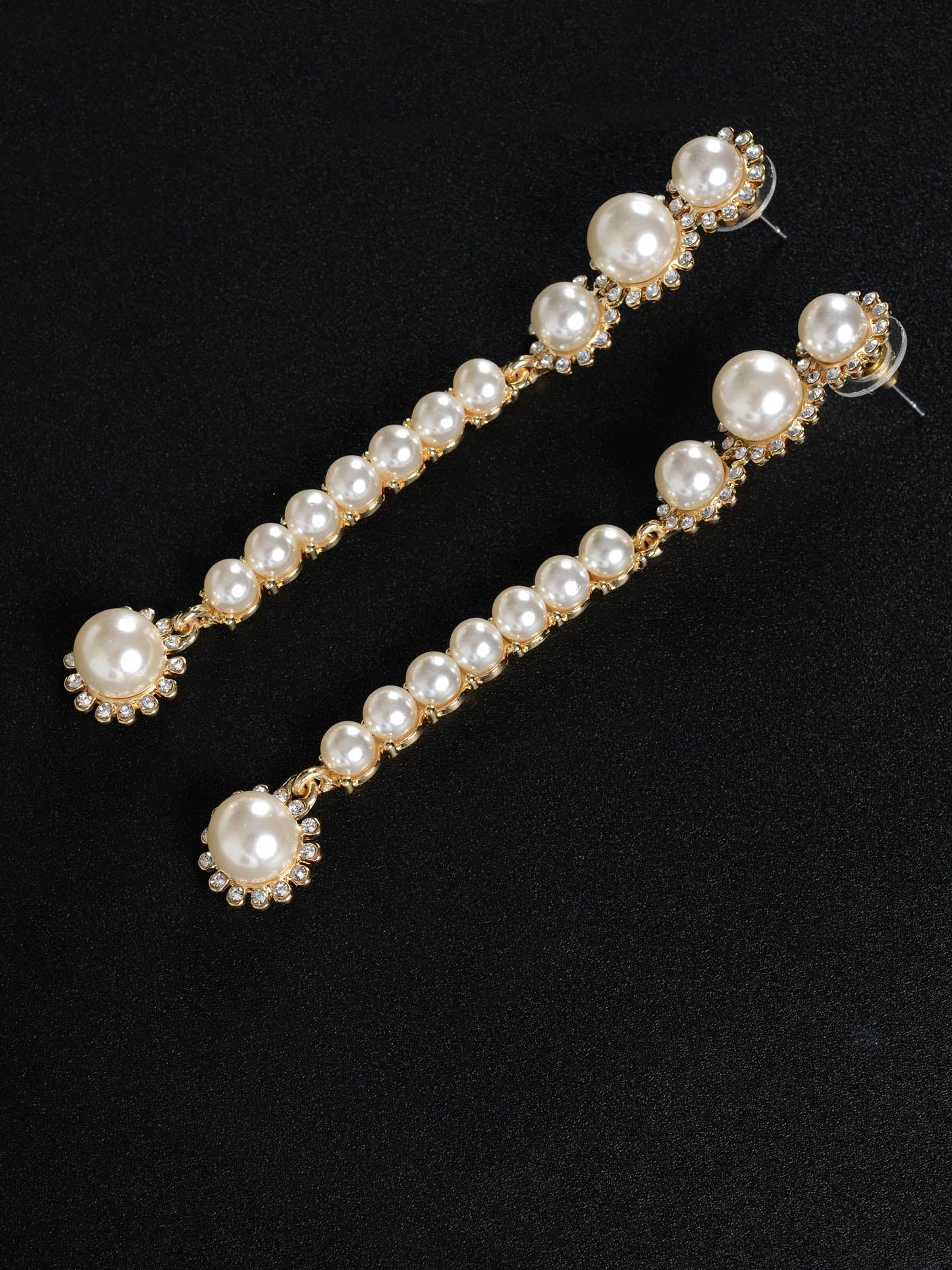 Long Drop Pearl Earrings