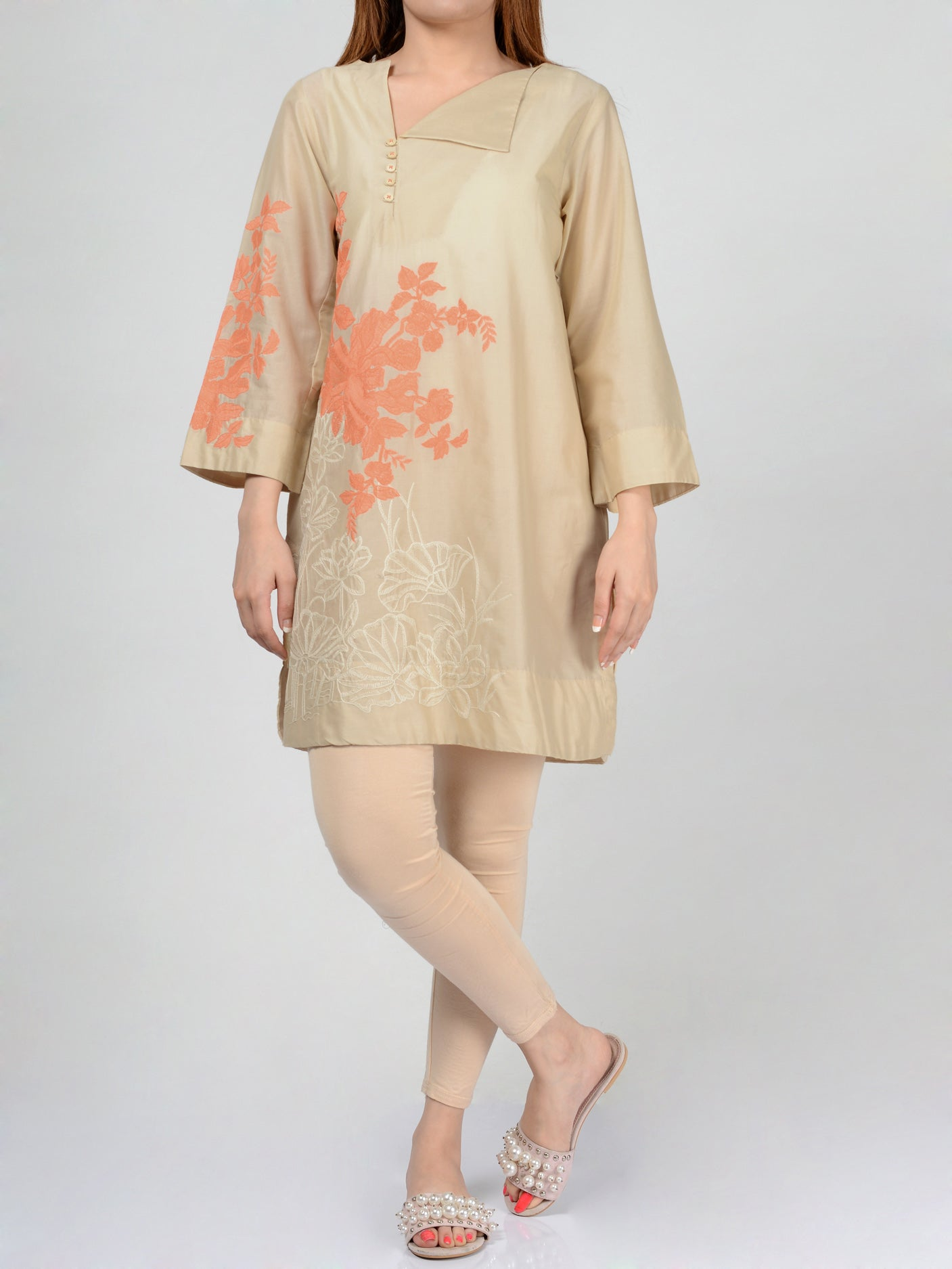 Pret Embroidered Lawn Shirt Online P0110 Limelight