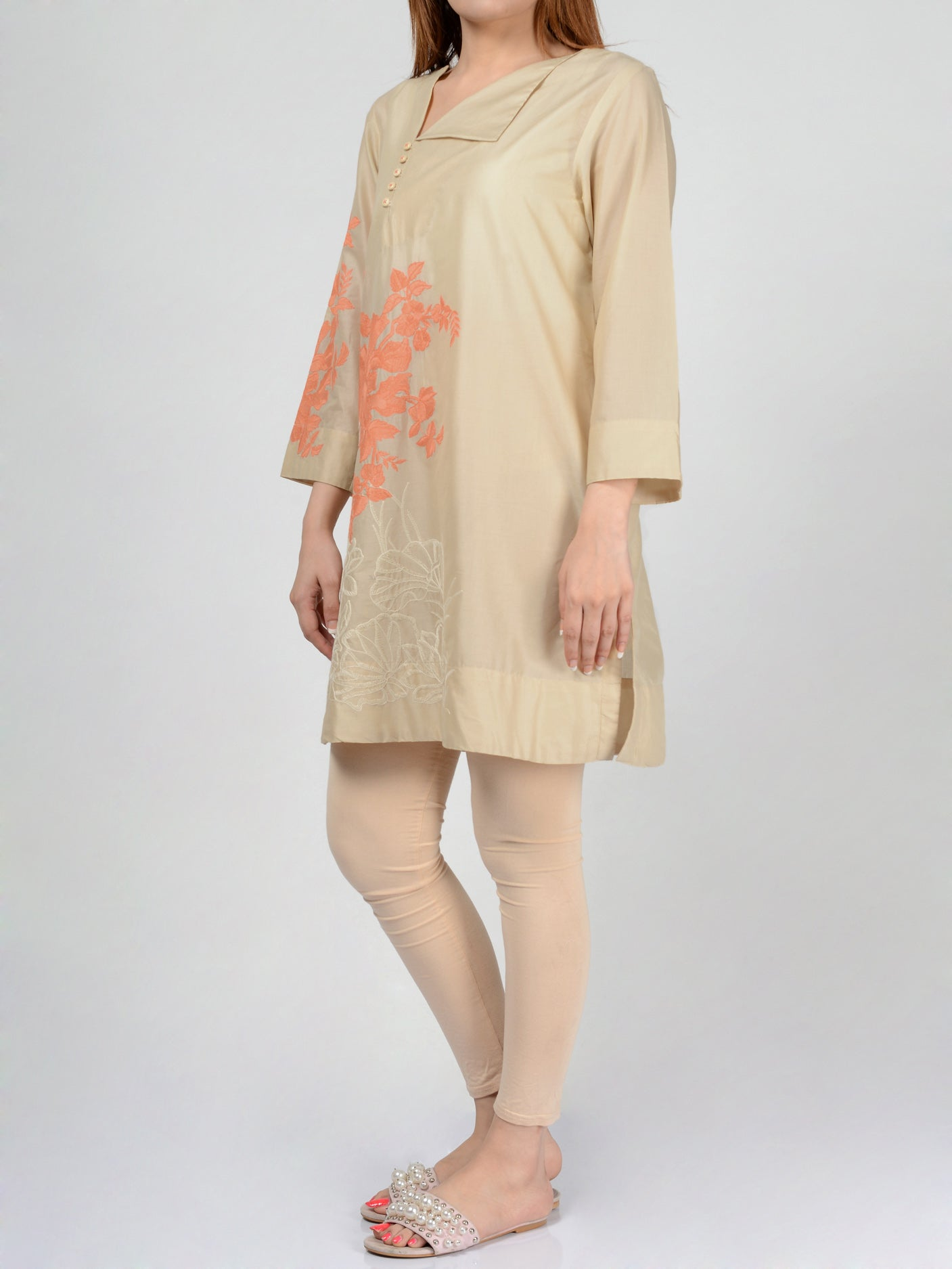 Pret Embroidered Lawn Shirt Online P0110