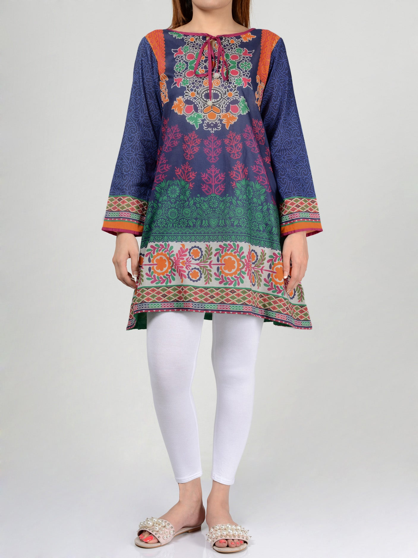 Printed Lawn Shirts Online P0116