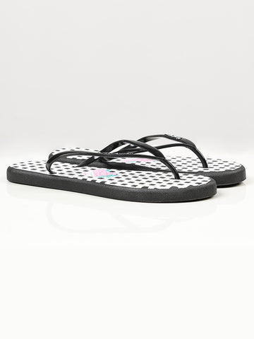 Printed Flip Flops - Black and White