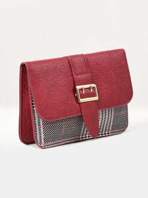 Textured Buckle Bag