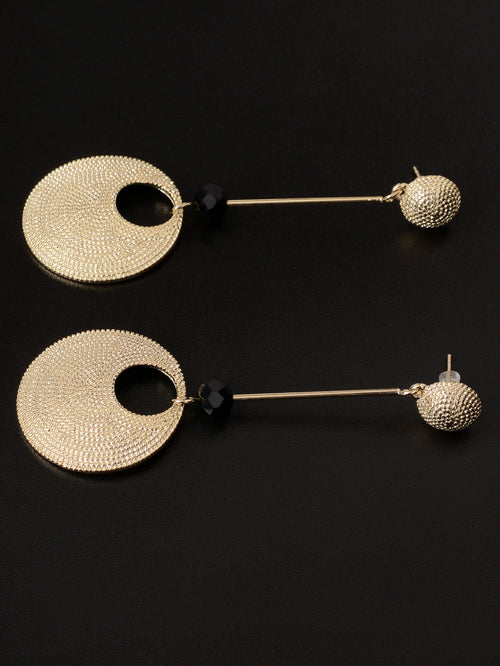 Textured Circular Earrings
