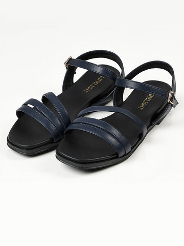 Plain Sandals - Navy Blue