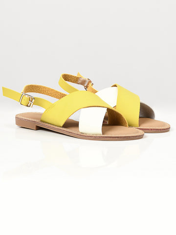 Crisscross Sandals - Yellow