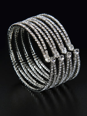 Crisscross Sparkle Cuff Bangle