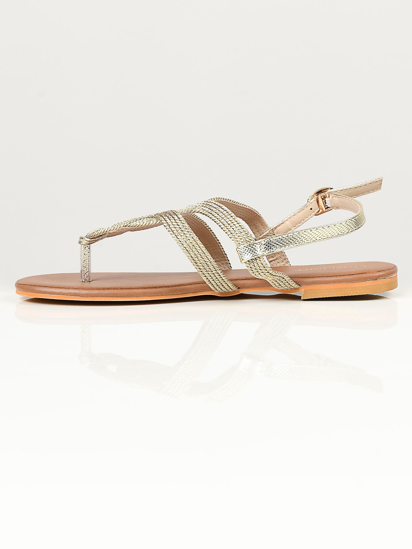 Shimmery Sandals - Gold