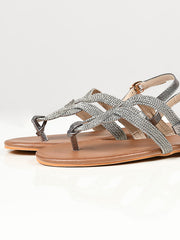 Shimmery Sandals - Silver