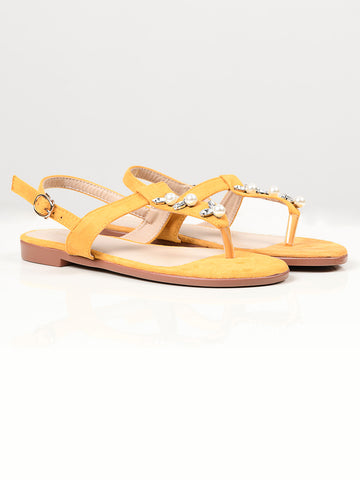 Pearl Sandals - Yellow