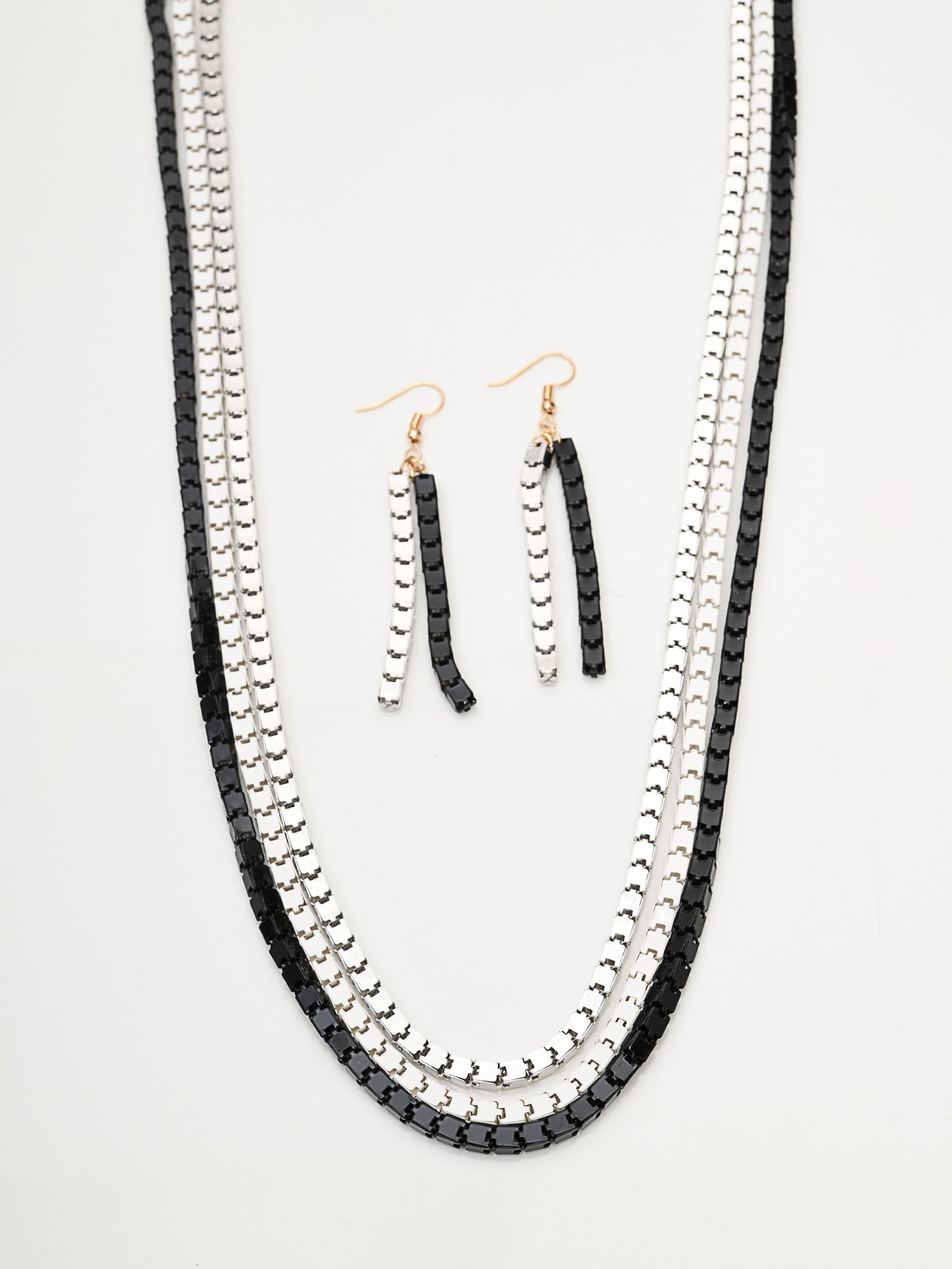Box Chain Necklace Set