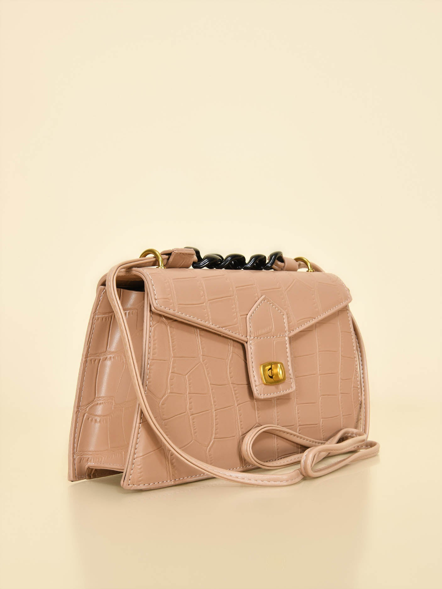 Trapezoid Patterened Handbag