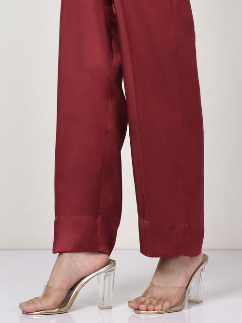 Silk Pants - Red