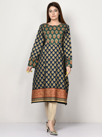 Embellished Khaddar Shirt