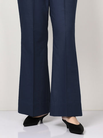 Raw Silk Pants - Dark Navy