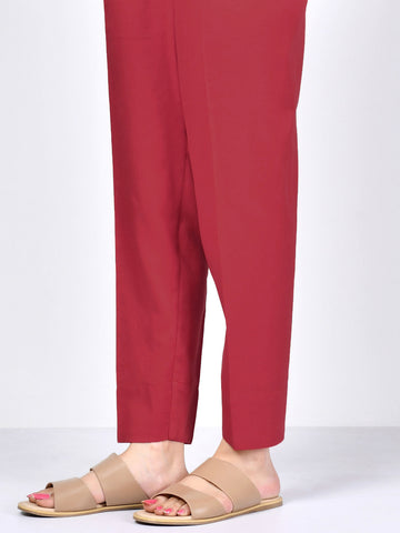 Crepe Trouser -  Dark Red