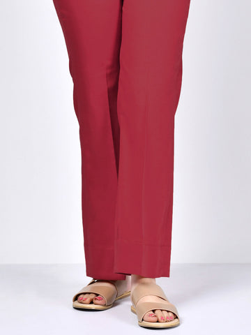 Crepe Pants -  Dark Red