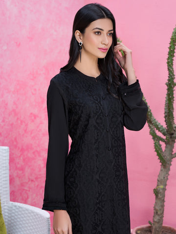 Embroidered Raw Silk Shirt