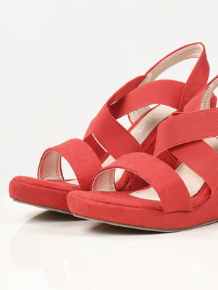 Criss Cross Wedges - Red