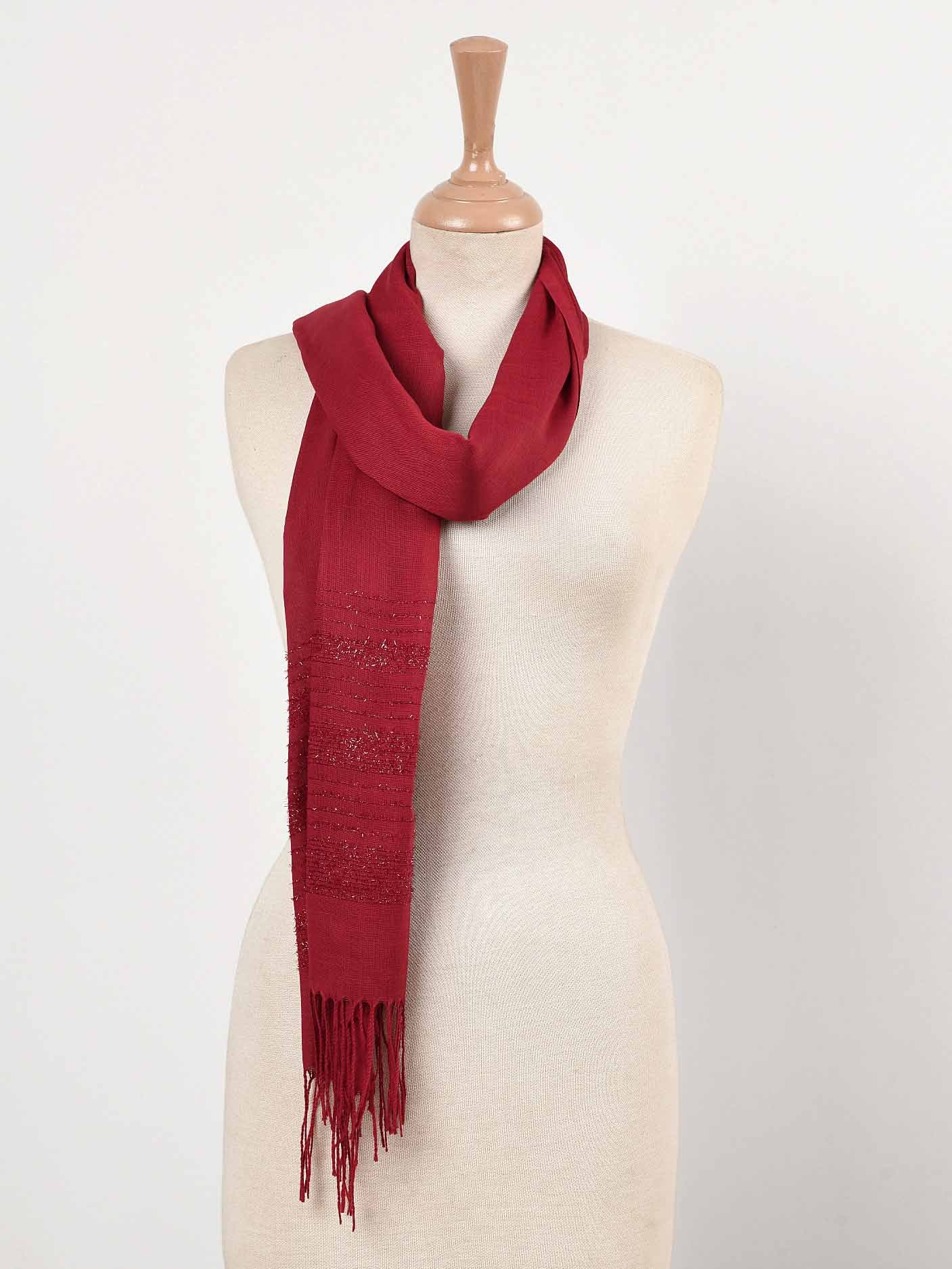 Shimmer Striped Scarf