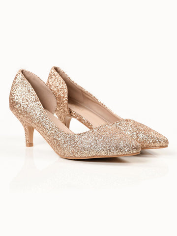 Sparkly Heels - Gold