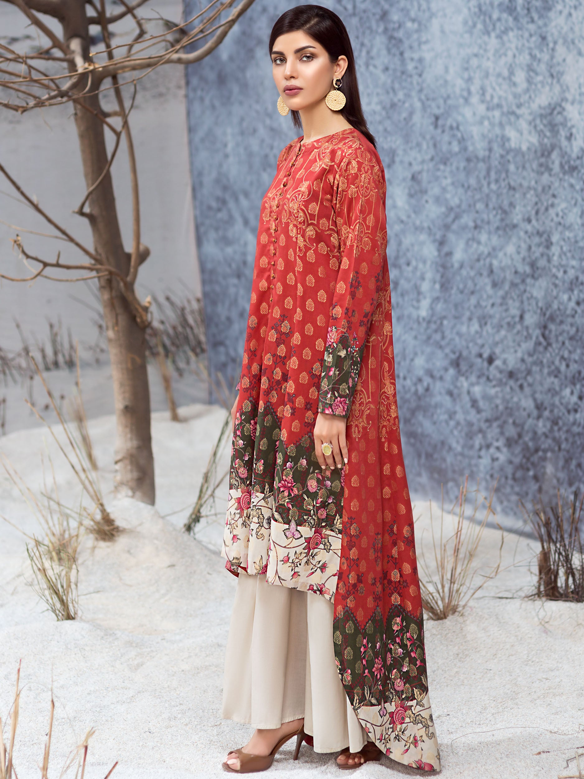 Limelight Online Embroidered Winter Cotton Suit P3490-DBG