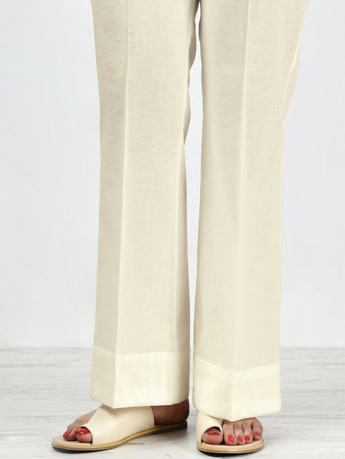 Unstitched Winter Trouser - Off White