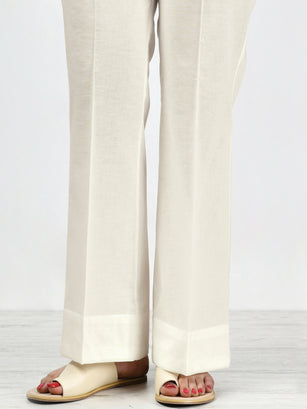 Unstitched Winter Trouser - White