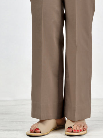 Unstitched Winter Cotton Trouser - Brown