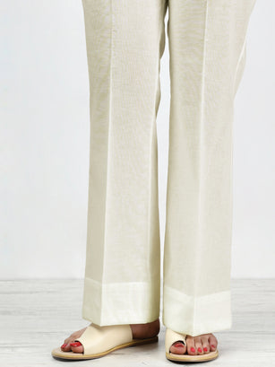Unstitched Winter Trouser - Cream